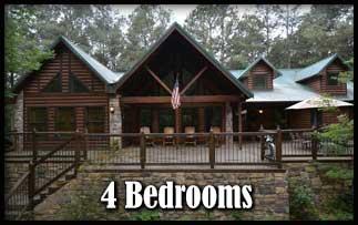 4 Bedroom Hot Tub Cabins in Broken Bow Oklahoma