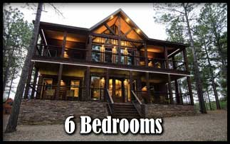 a 6 bedroom Broken Bow Cabins