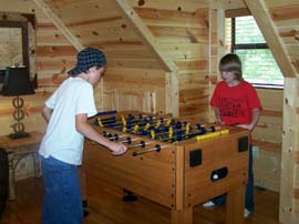 Texas Two Step Cabin Foos Ball Game